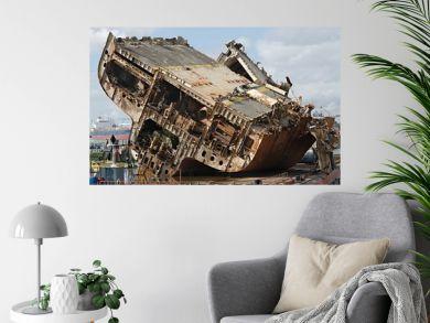 Cargo ship wreck
