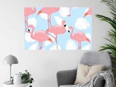 Vector Flamingo SEamless