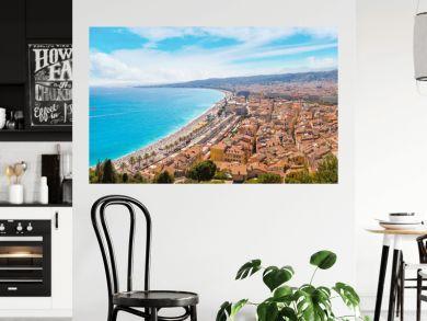 Panoramic view of beach in Nice