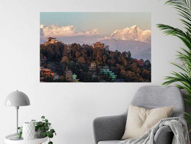 Nagarkot, Nepal, View on the Himalayan Mountain Range