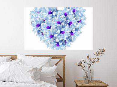 Heart Blue Light Flowers
