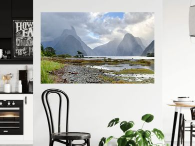 Panoramic view of Milford Sound (Fjordland, New Zealand)