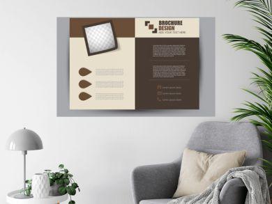 Flyer, brochure, billboard template design landscape orientation for education, presentation, website.  Brown color. Editable vector illustration.