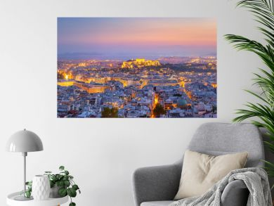 Panoramic View of Athens, Greece