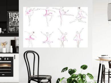 Classical ballet woman-dancers