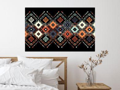 Ikat seamless pattern. Tribal art print. Chevron