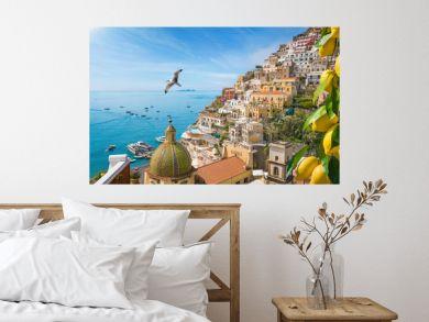 Beautiful Positano on Amalfi Coast in Campania, Italy