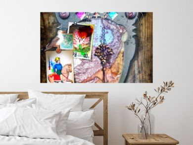 Fairytale window. Travel in fantasy and imagination