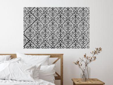 Arabesque Background In Black And Wihite