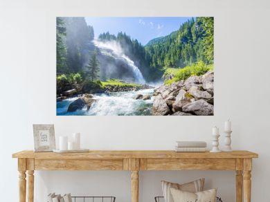 The Krimml Waterfalls in the High Tauern National Park, Salzburg