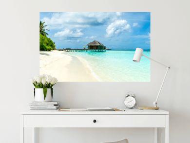 Beautiful sandy beach, Maldives island