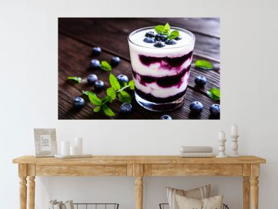 Greek yogurt with blueberries
