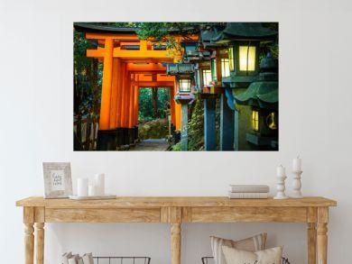 Japan. Temple complex on mount Inariyama. Kyoto. The Fushimi Inari Shrine. Fushimi Inari Taisha Temple. The temple of the thousand gates. Shinto. Mythology Of Japan. Japan's most recognizable landmark
