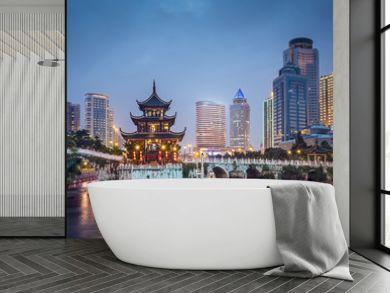 Guiyang, China at Jiaxu Pavilion on the Nanming River