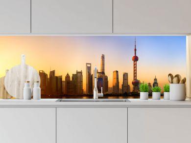 Pudong panorama at sunrise, Shanghai, China