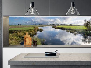 Dutch polder landscape in the province of Friesland