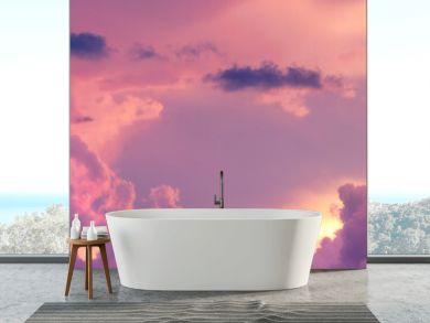 Sunset / sunrise with dramatic cloudscape, vivd colors