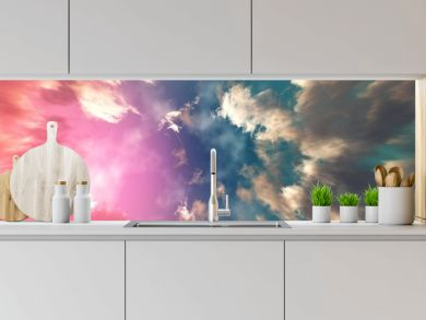 Clouds, beautiful cloudy background, panorama of clouds, 3D rendering