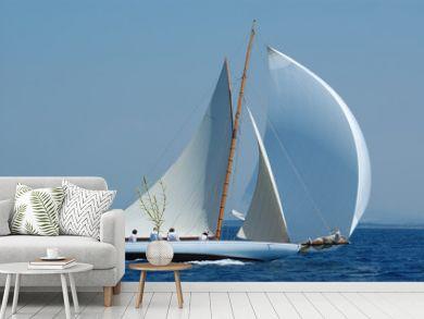 barca a vela classica con vento al lasco