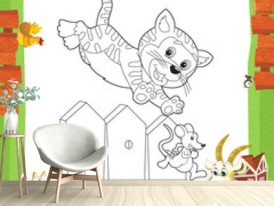 The coloring plate - illustration for the children