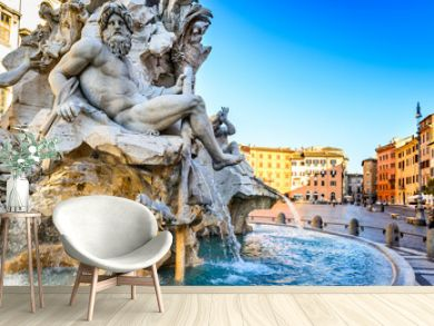 Piazza Navona, Rome in Italy