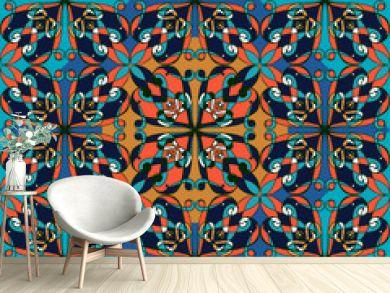 Seamless pattern. Vintage decorative elements. Oriental pattern,