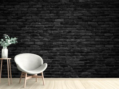 black brick wall, dark background for design
