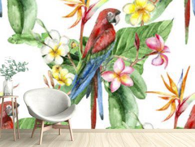 Tropical watercolor pattern