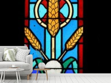 vitrail dans une église