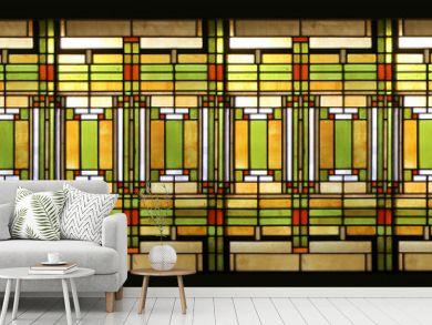 Prairie style stained glass / Vitrail style prairie