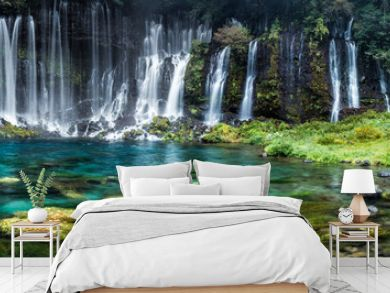 Wasserfall Panorama mit türkisblauem Wasser