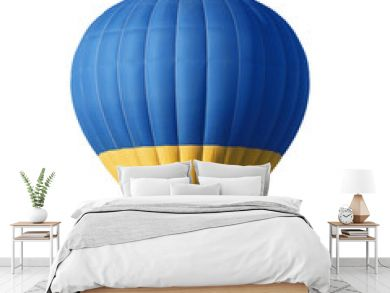 Bright colorful hot air balloon on white background