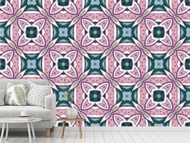Mosaic islamic seamless pattern texture. Decorative pattern ornamental multicolor.