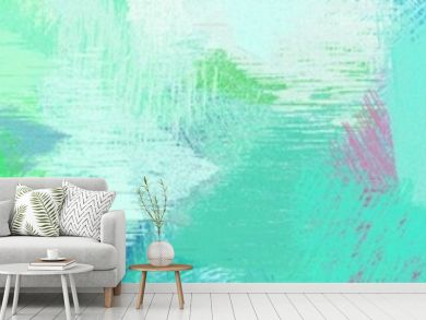 wide landscape graphic with creative brush strokes background with aqua marine, mulberry  and light sea green