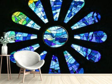 vitrail de la Sagrada Familia à Barcelone