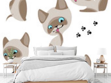 cheerful Siamese kittens 2. Similar in a portfolio