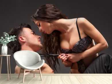 Fashion Naked Couple, Dramatic image shot in studio