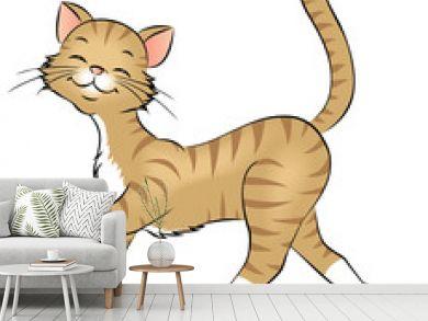 spazierende Katze
