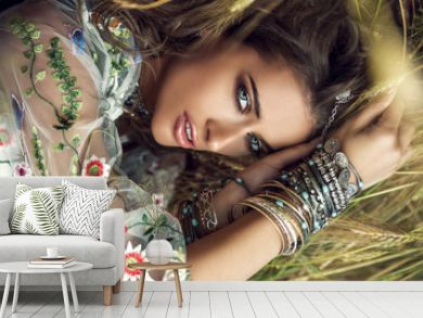 beautiful bohemian girl