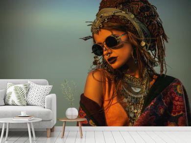 magnificent boho woman