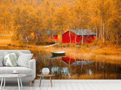 Finland. Fall scene.