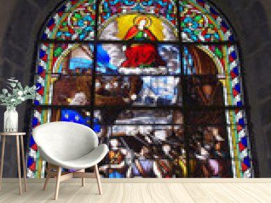Un vitrail de l'église d'Arzon