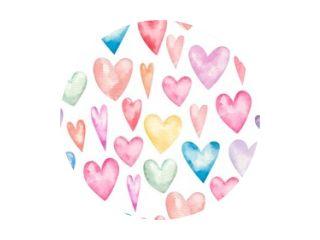 naadloos patroon met hartjes voor valentijnsdag, schattige kinderillustratie, print, design