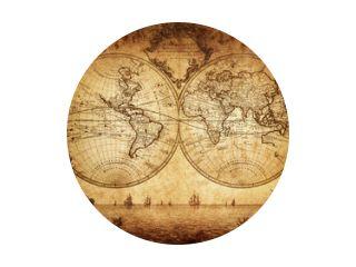vintage wereldkaart 1733
