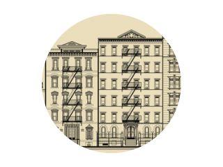 Oud gebouw en gevels van new york