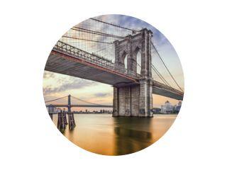Brooklyn Bridge over de East River in New York City