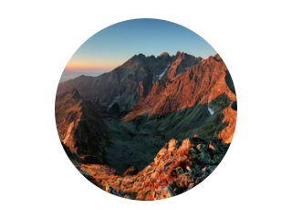 Panorama berg herfst landschap