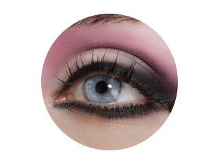 Sluit de ogen, maak kleurrijke oogschaduw en eyeliner
