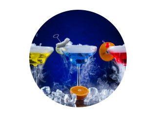 Martini-drankjes met gerookt effect