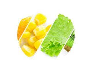 Kleur fruit, bessen en groenten